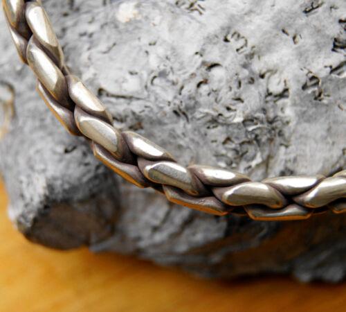 Extremadamente masivamente plata 6,5 x 5,5 cm brazalete a mano nodos cordel eslabones grob