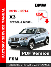 BMW X3 f25 2010 2015 Factory Service Repair Manual eBay