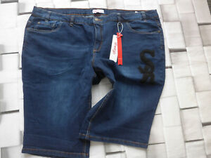 Sheego-Jeans-Pants-short-Blue-Size-40-to-58-plus-Size-with-Application-485