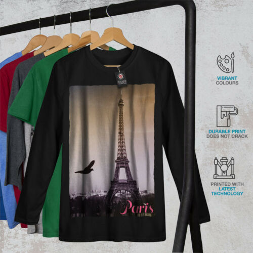 Paris design graphique Wellcoda Paris Love Photo homme t-shirt à manches longues