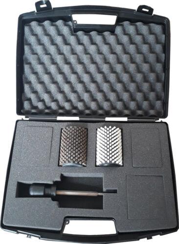 Achse und Griff MAPLUS Rotorbürstenset Koffer inklusive. Komplett: 2 Bürsten