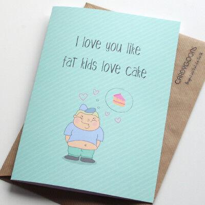 Funny Joke Fat Friends Birthday Customised Card
