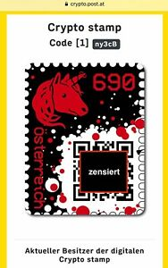 RED-CRYPTO-STAMP-new-mint-RAR-5-DIGIT-CODE-ROTE-postfrisch-neu-NUR-5-Stellen