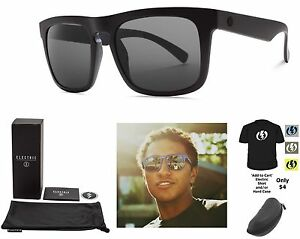 28577a63fcbe NEW Electric Mainstay Matte Black Ohm Grey Square Mens Sunglasses ...