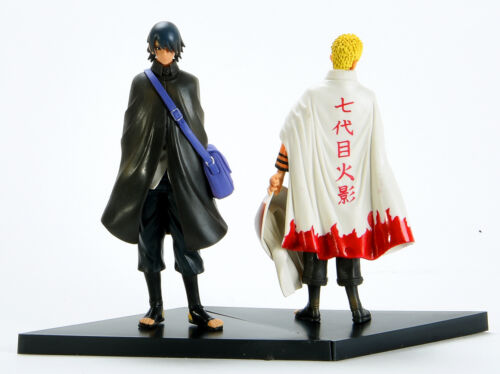 "Naruto Movie The Last Uzumaki Sasuke Uchiha Figures Anime Toy 2 pcs New 16cm 6/"""