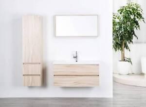 Mobile Bagno Set con Lavandino in Colata Minerale, Specchio, Pagina ...