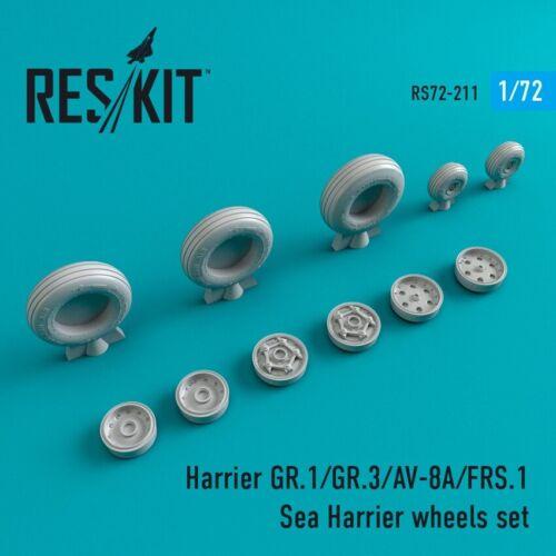 ResKit 1//72 BAe Harrier GR.1//GR.3//AV-8A//FRS.1 Sea Harrier Wheels Set # 72-0211