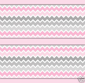 Image Is Loading Pink Grey Gray Ombre Chevron Wallpaper Border Wall