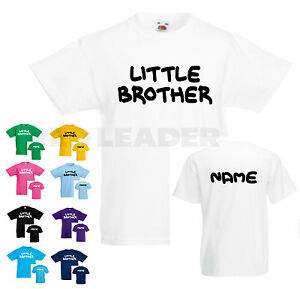 Image Is Loading Boys Personalised Little Brother T Shirt Birthday Gift
