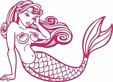 Mermaid Girl Fish Tail Fantasy Fairy Car Truck Window Laptop Vinyl Decal Sticker