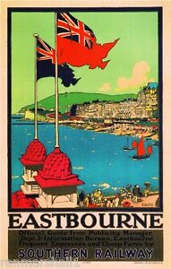 Eastbourne Great Britain Vintage Travel Advertisement Poster Picture Print