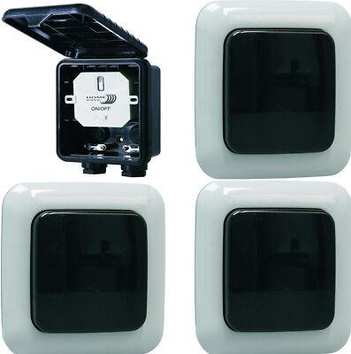 Funk Schalter Set Einbauschalter Fernbedienung für Lichtschalter Geräte 1000W