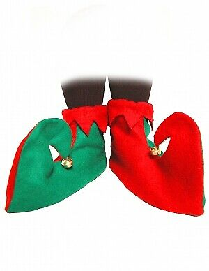 NEW ADULT ELF SHOES COVER BOOT CHRISTMAS GNOME XMAS FANCYDRESS COSTUME ACCESSORY