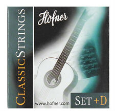 Höfner HCS Saiten Strings + zusätzlicher D-Saite für Klassik Gitarre