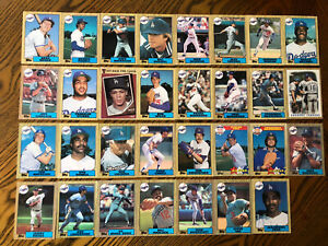 1987 LOS ANGELES DODGERS Topps Complete Baseball Team Set 31 Cards HERSHISER SAX