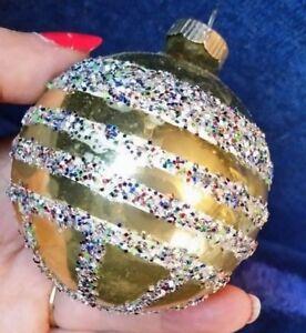 Vintage-SHINY-BRITE-GLASS-CHRISTMAS-ORNAMENT-ROUND-BALL-GLITTER-MICA-STRIPES-3
