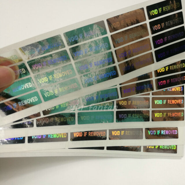 500PCS Hologram Security Warranty Void if Removed Sticker Label