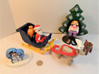 Playmobil 1.2.3 Santa Claus With Reindeer + Sleigh Christmas Advent LOT of 11
