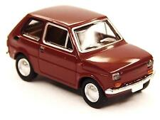 H0 Brekina AUTOVETTURE FIAT 126 Polski Fiat oxidrot Drummer # 22364