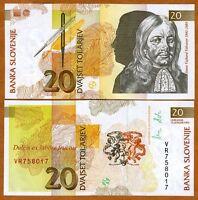 Slovenia, 20 Tolarjev, 1992, P-12, UNC   Last Pre-Euro, First and Last