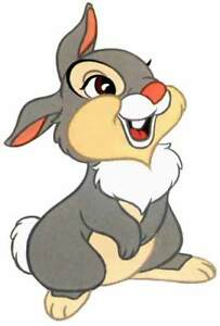 Details about THUMPER The Rabbit from Walt Disney's BAMBI Movie WindoCling  Decal Sticker - NEW