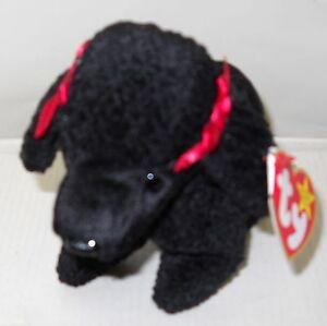 b97b57b7036 3599 NWT RETIRED TY 1998 Gigi the Poodle Beanie Baby DOB 4-7-97
