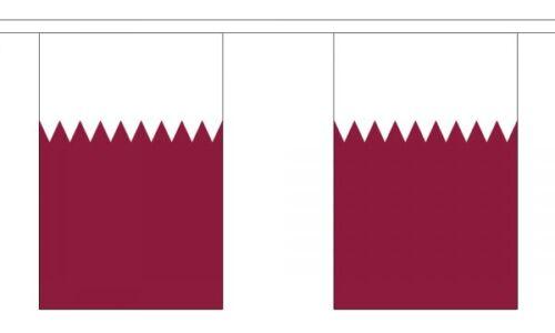3m 6m 9m Metre Length 10 20 30 Flags Qatar Flag Bunting Polyester
