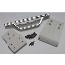 RPM Front Bumper/Skid Plate Chrome Fits TRAXXAS Slash 4x4 - RPM80023