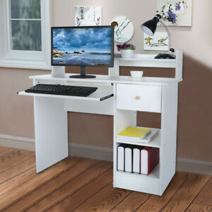 Modern Computer Desk Study Writing Desk Home Office Small Spaces Pc Laptop Table Ebay