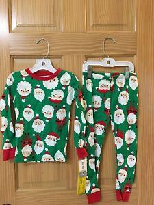 New Carter/'s Firetruck Pajama Set Long sleeve long pants Snug Gray Boys