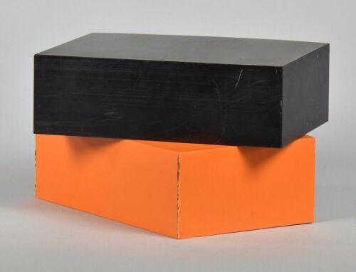 "- 2/"" x 4/"" x 6/"" ABS Plastic Bar Stock Orange /& Black 2 Blocks"