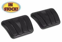 Lokar Brake & Clutch Pedal Pad Set For 67-72 Chevy Truck Black Rubber Xbag-6168