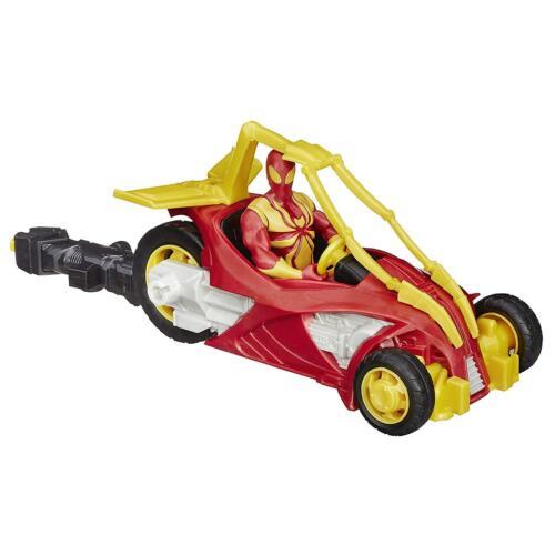 Marvel Ultimate Spider-Man Iron Spider Flitzer Blast n Go Action Figure
