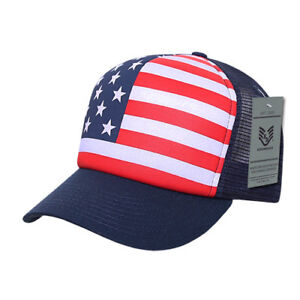 Rapid Dominance USA American Flag Graphic Foam Mesh Trucker Dad Caps ... 4ca336d20c7f