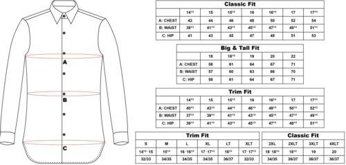 Dress Shirt Only Steven Land Trim/&Classic Fit Novelty French cuff-Blue-TA724-BL