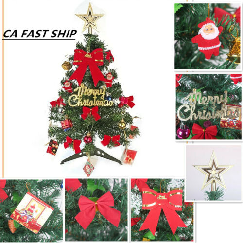Tabletop 60CM 2FT Aritificial Christmas Tree DIY Decorated Home Ornament W//Light
