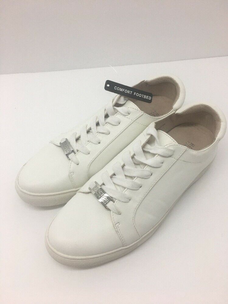 Kenneth Cole REACTION Womens White Sneakers Crystal Detail Joey 5 - Size 9 M