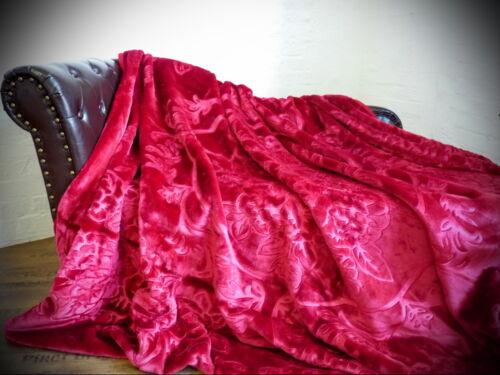 set Luxe Couverture de jour couverture couverture couverture ronces-rouge 3tlg 2 coussins 40x40