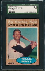 1962-Topps-Baseball-Willie-Mays-AS-395-SGC-84-GIANTS-NM-HOF