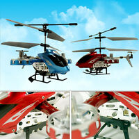 Red Avatar 4 Channel Remote Led Control Rc Helicopter Gyro For Kids Toys Gift