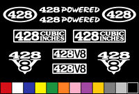 428 Ci V8 Powered 10 Decal Set Engine Cj Stickers Emblems Fender Badge Decals