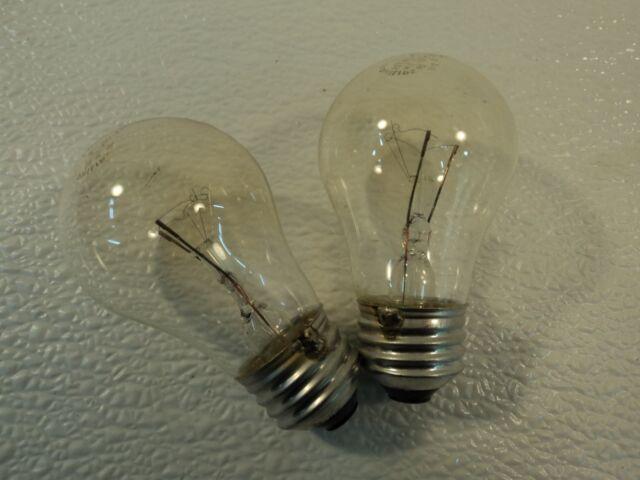 Philips 15 Watt Incandescent Light Bulb 2 Pack Clear Appliance 15A15//CL