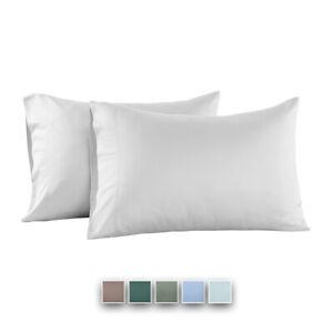 Eucalyptus Origins Tencel Lyocell 600 TC Standard//Queen Pillowcase Pair Silver