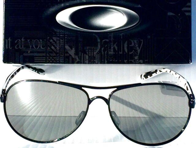 f0be7c8d8 NEW* Oakley FEEDBACK AVIATOR Black w POLARIZED CHROME Womens Sunglass  4079-24