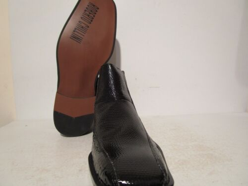 Roberto Chillini Mens 85567 Casual Dress Side Zip Ankle Boots Black Sz 9.5-13
