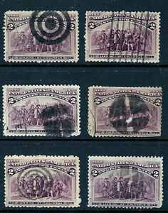 Nice-Mix-of-1870s-1890s-Classic-US-Fancy-amp-Typical-Contemporary-Cancels-SM