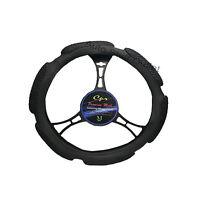 6 Grip Mesh Black Steering Wheel Cover Soft Universal 14.5-15.5''