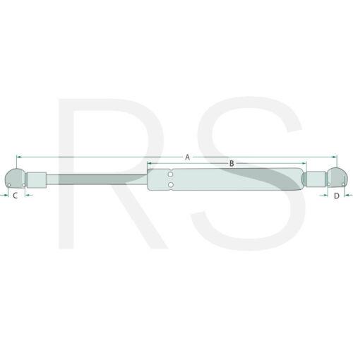 Stabilus Gasdruckfeder für Deutz 04429617 Agrotron 195 200 L 710 65404065