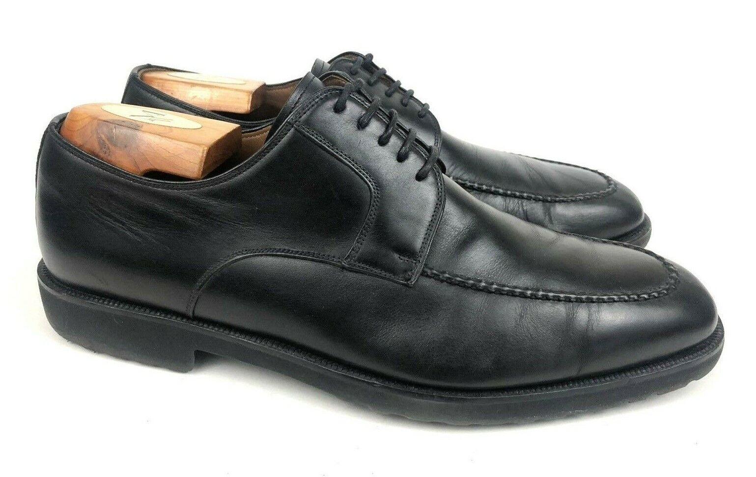 MAGNANNI Spain   Romelo Black Leather Lace Up Moc Toe Derby Oxford   Men's 9.5