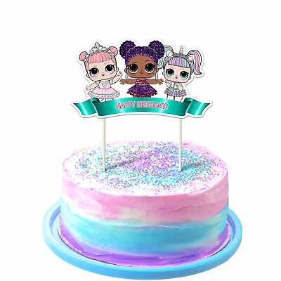 Magnificent Lol Cake Topper 1St Birthday Toppers Cute Girls Dolls Bday Funny Birthday Cards Online Elaedamsfinfo